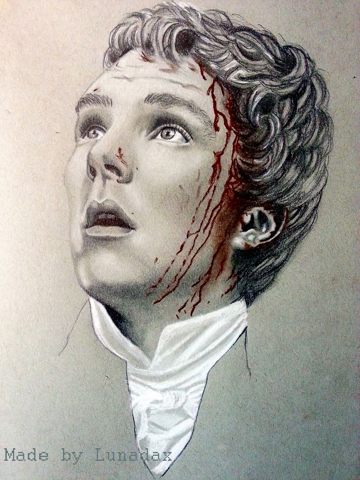 White Charcoal, Sépia Charcoal, Staedtdler HB, B3, B4, on grey tinted paper (Strathmore) Benedict Cumberbatch as Edmund Talbot in the TV Series To The End Of The Earth. Not completed yet, still need to do the velvet coat :-)