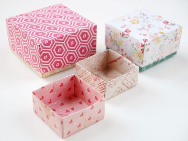 Voilà un DIY parfait pour cette période de fête ! Faites un joli coffret cadeau en papier japonais. Créer la boîte en origami dès maintenant.