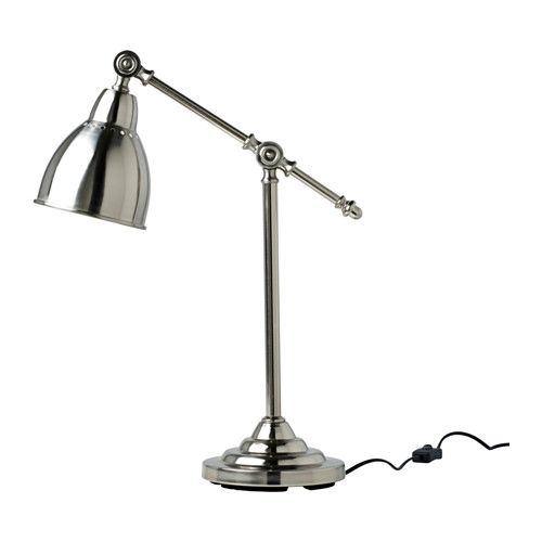IKEA BAROMETER Work lamp Nickel-plated You can easily direct the light where you want it because the lamp arm and head are adjustable.