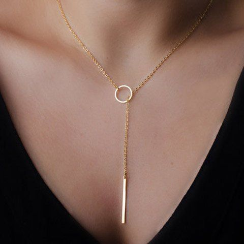 Simple and Elegant Circle Layered Necklace