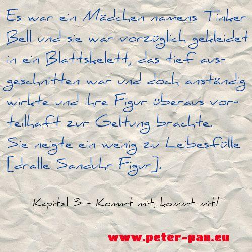 Wenn du die ganze Geschichte lesen willst, schau auf www.peter-pan.eu vorbei. Dort kannst du kostenlos und legal Peter Pan lesen und im Quiz dein Wissen testen. Du bevorzugst eBooks? Kein Problem: www.amazon.de/dp/B00N2X7NQG #Zitat #PeterPan #TinkerBell #Mädchen #Lesetipp #Sanduhr #Blattskelett #Figur #Inspiration #Kinderbuch