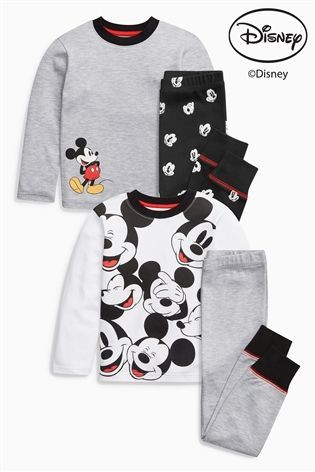 Buy Monochrome Mickey Mouse™ Pyjamas Two Pack (9mths-8yrs) from the Next UK online shop