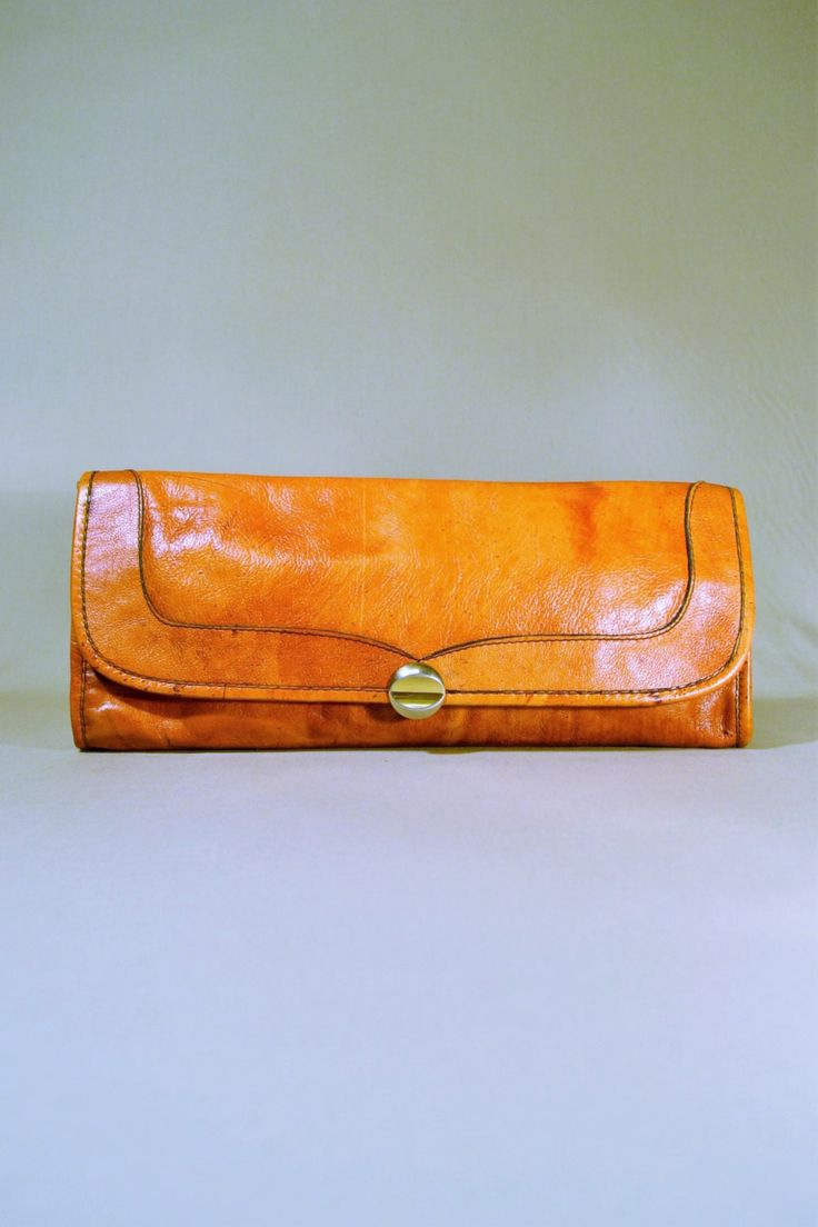 VIDA Leather Statement Clutch - grey heron colored pencil by VIDA EbASW