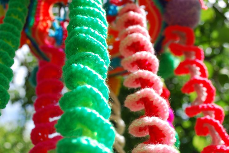 Pretty spiral crochet