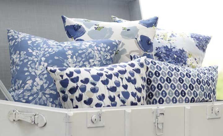 #Tulipa #romo #fabric #textile #print #pattern #blue #floral
