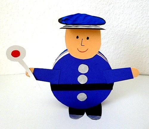 politie knutselen met kleuters