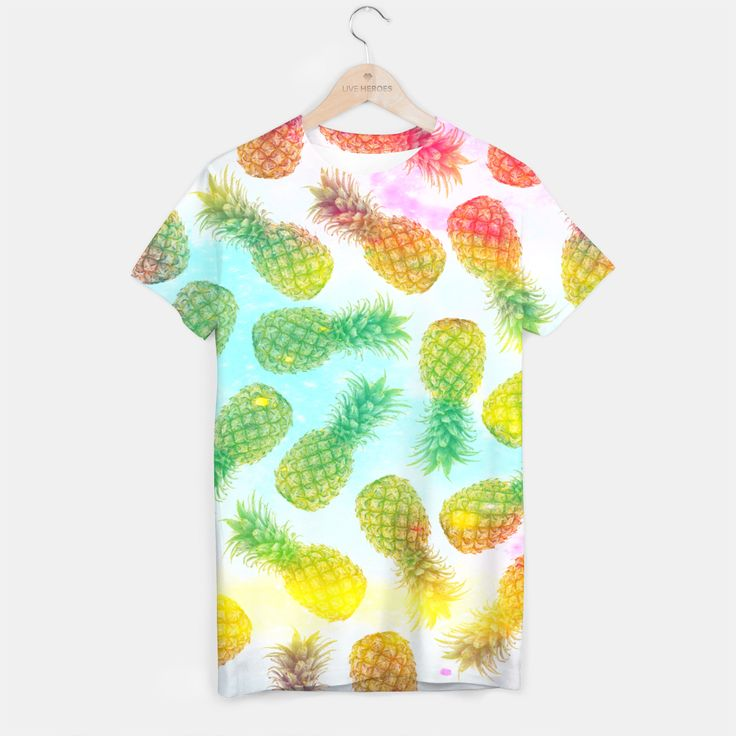 Colorful pineapples T-shirt, Live Heroes