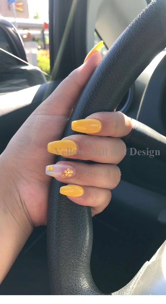 23 große gelbe Nail Art Designs 2019 1 #nailarts #nailartideas