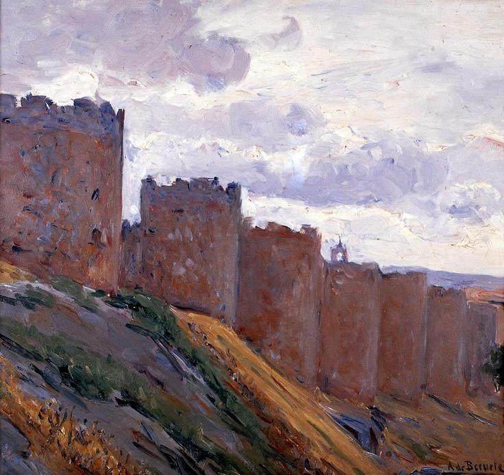 Murallas de Ávila, de Aureliano de Beruete y Moret (Madrid, 1845-1912)