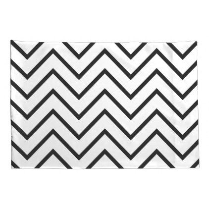 #Black And White Chevron Pillowcases - #Pillowcases #Pillowcase #Home #Bed #Bedding #Living