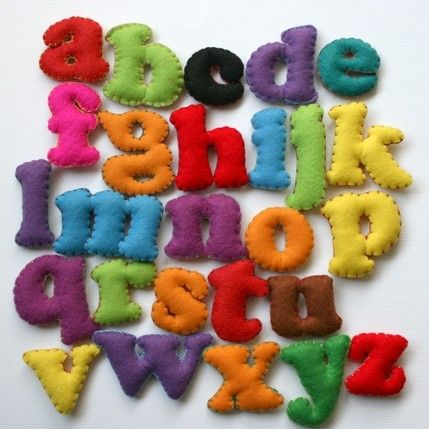 Alphabet Toys made out of Felt | Family Style