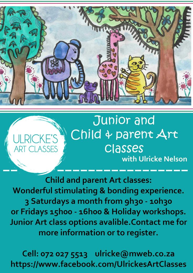 Junior art classes offered by Ulricke Nelson