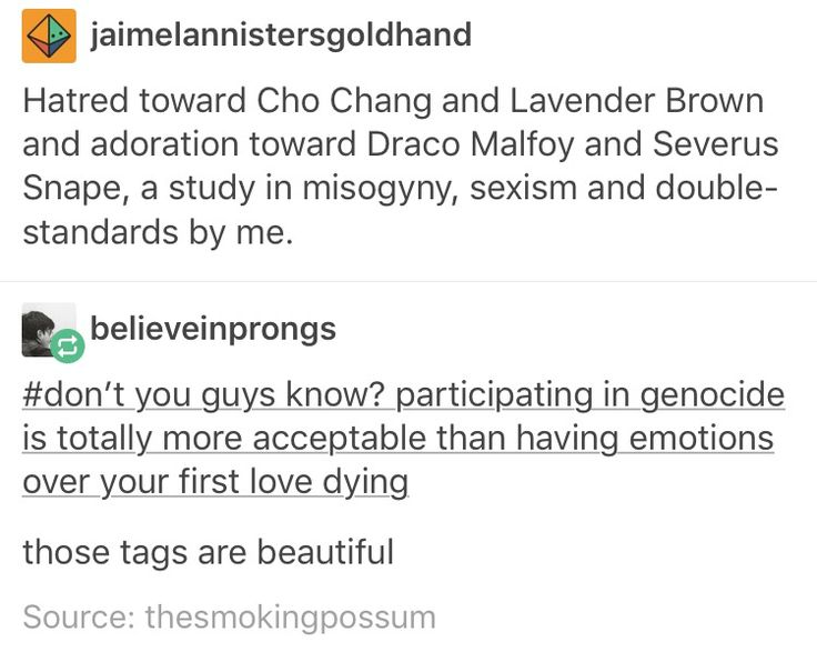 Cho Chang, lavender brown, Draco Malfoy, Severus Snape, misogyny, racism, Harry Potter, hp