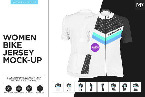 Women Bike Jersey Mock-up by Mocca2Go/mesmeriseme on @creativemarket