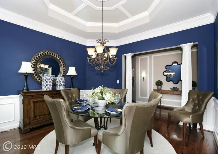 Pin by lucaya ruiz tampa realtor on dining room ideas pinterest for Navy blue and brown living room