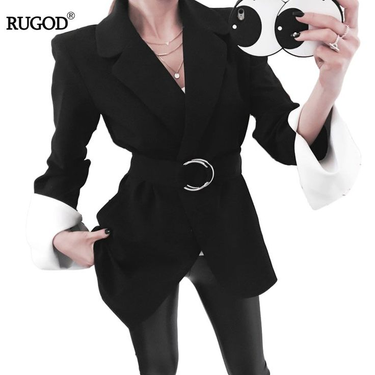 Новые поступления 2017 сезон: весна–лето Офисные женские туфли рабочие костюмы пальто специальное Дизайн пояс с кольцом куртка Slim Топы купить на AliExpress