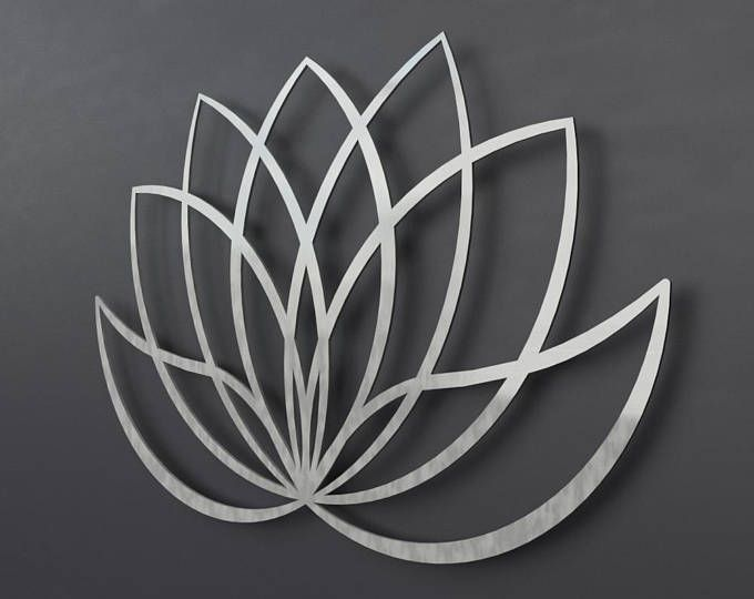 Xl Lotus Flower Metal Wall Art Contemporary Sculpture Extra Large