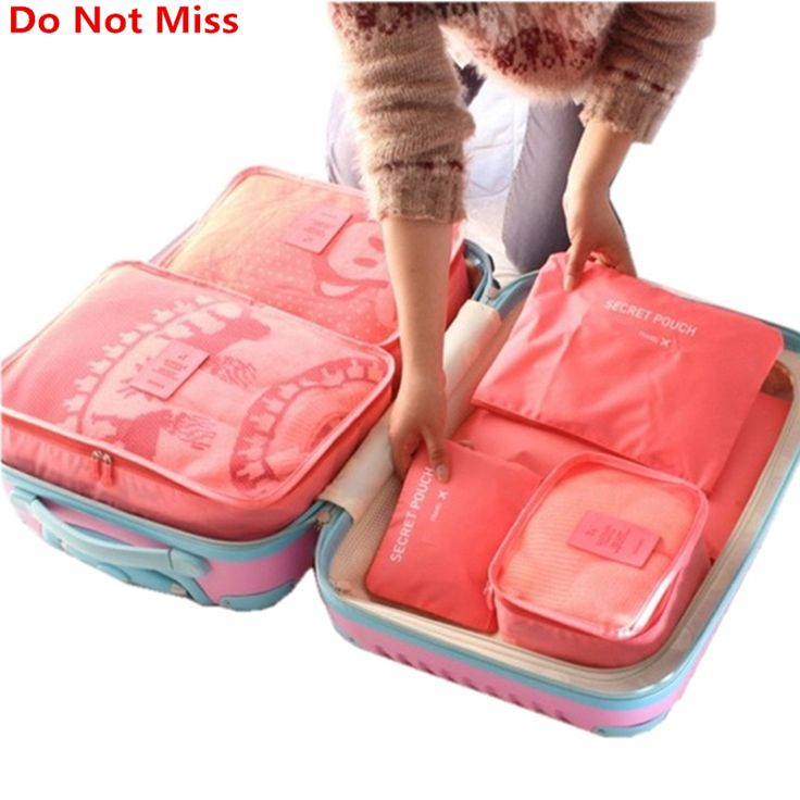 BUY now 4 XMAS n NY. Do Not Miss New 6PCS/Set High Quality Oxford Cloth Travel Mesh Bag In Bag Luggage Organizer Packing Cube Organiser for Clothing *~* Just click the VISIT button will lead you to find similar beautiful pieces on  AliExpress.com #santa