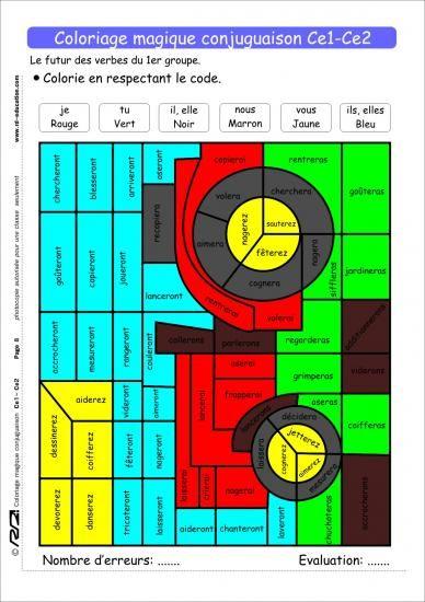 1000 images about grammaire on pinterest language - Coloriage magique grammaire ce2 ...