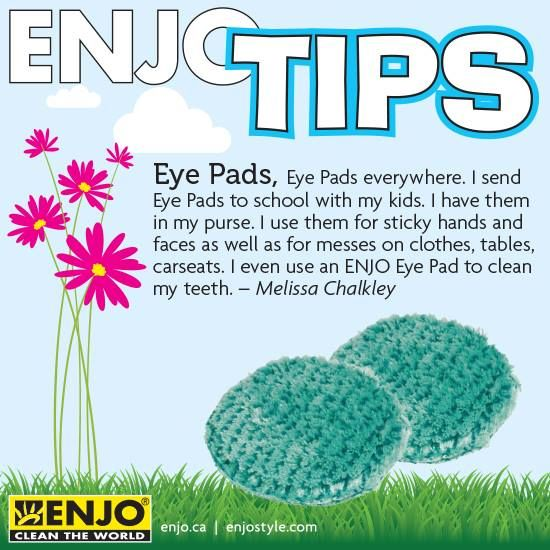 ENJO eye pads are perfect for cleaning faces and hands, great replacement for chemically wipes.
