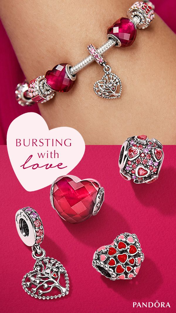 4b6d3d5c0 Wear your heart on your sleeve this Valentine's Day with romantic pink and  red jewellery from PANDORA ...