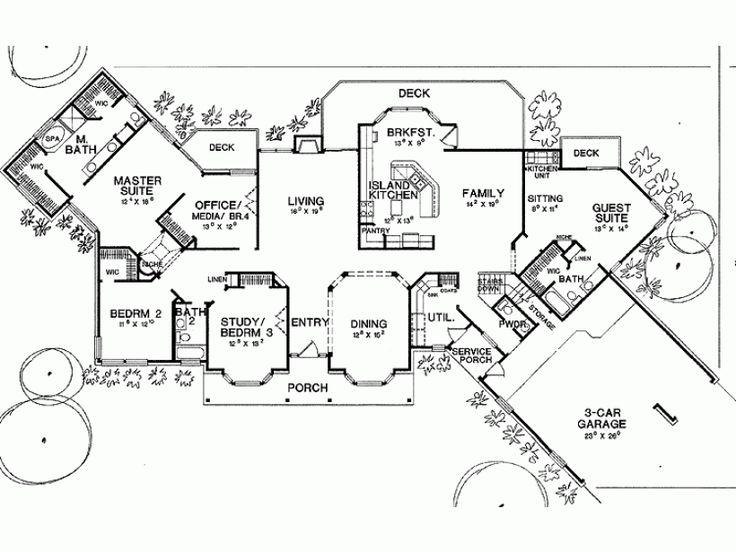 56 best house plans images on Pinterest Architecture Dream