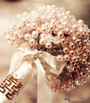 Букет на жемчужную свадьбу своими руками