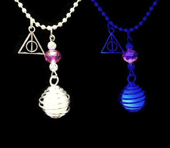 Purple Glow in the Dark Harry Potter Deathly Hallows by FonkyFox