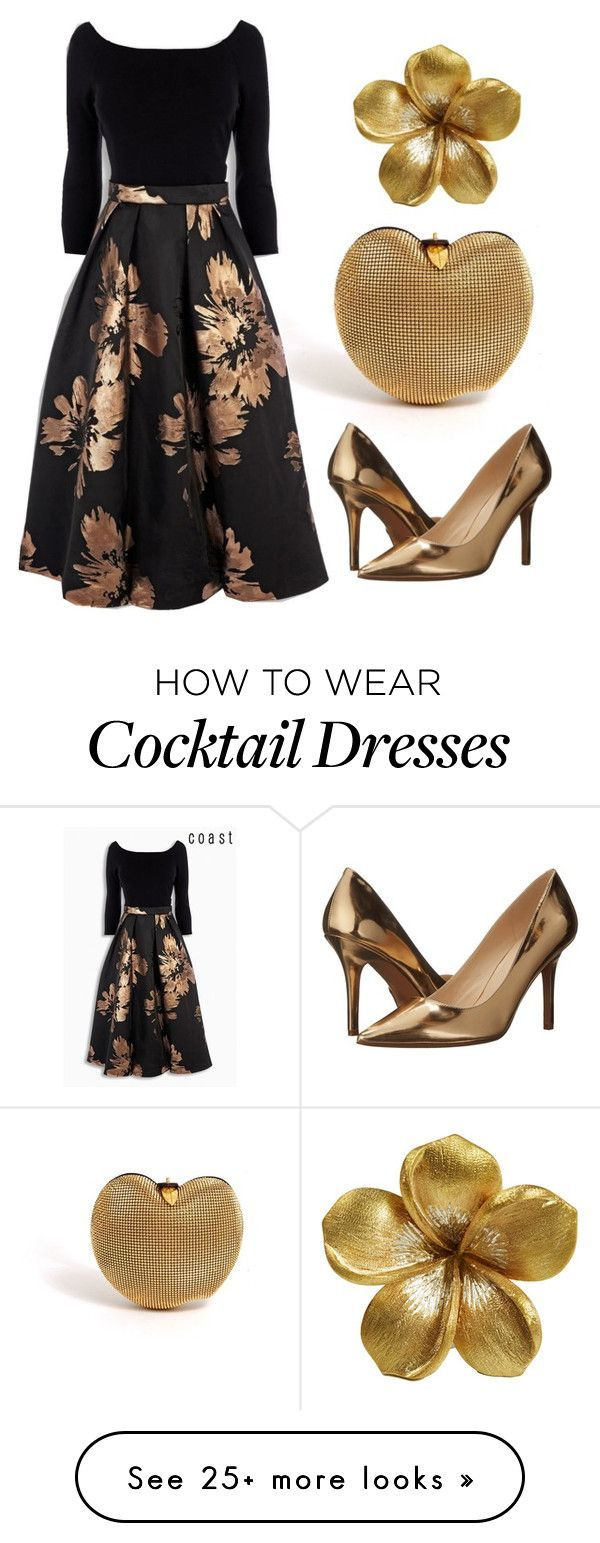 """Cocktail Reception."" by momono on Polyvore featuring Nine West Women, Men and Kids Outfit Ideas on our website at 7ootd.com #ootd #7ootd"