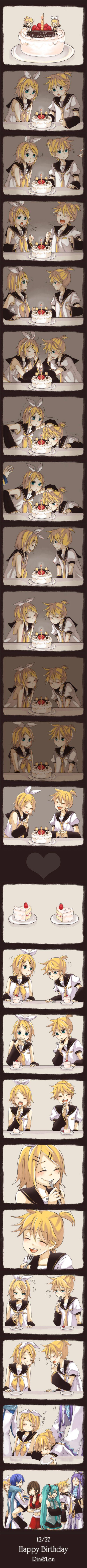 Cumpleaños de rin y len