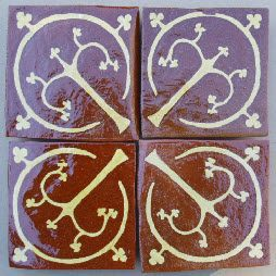 Tree of Life Medieval Tiles c1450