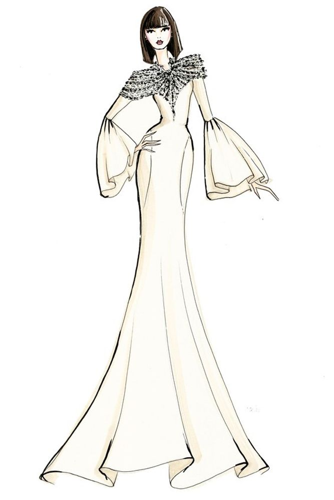 27 Bridal Ideas From Popular Dress Designers Wedding Forward Popular Dresses Dress Design Drawing Wedding Dress Sketches