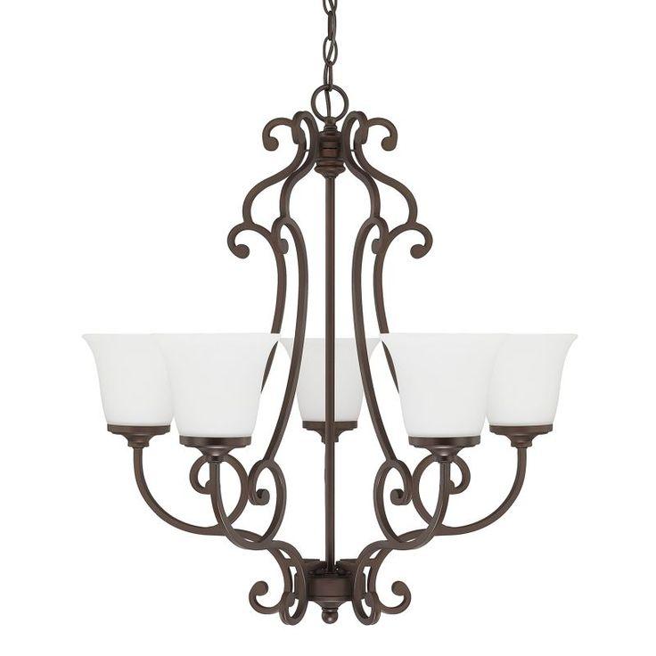 Capital Lighting 4945-242 Terrace 5 Light 1 Tier Chandelier Burnished Bronze Indoor Lighting Chandeliers