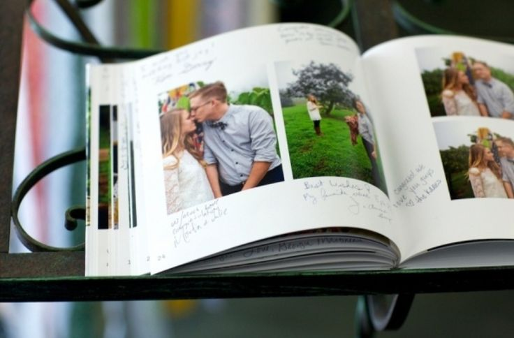 Long beach diy wedding shutterfly engagement and wedding for Photo wedding guest book