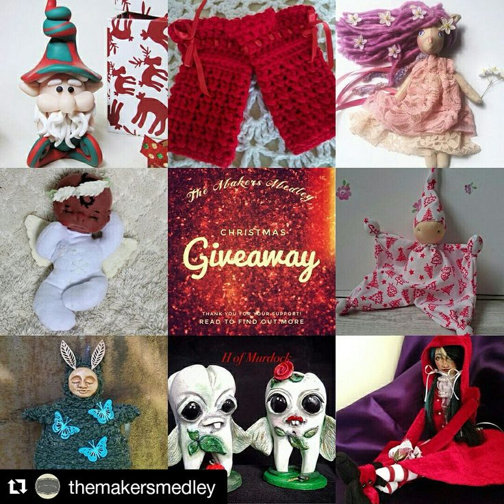We are having a Christmas giveaway. Check out IG for details on how you can win 1 of 9 hand crafted creations @themakersmedley @ripleycatco  #christmasgiveaway #prizes #win #artists #giveaway