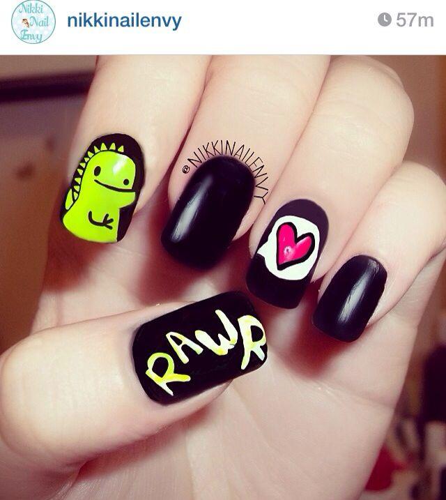 Dinosaur nails