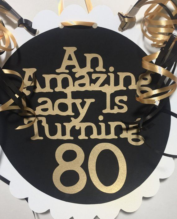 80th Birthday Decorations Giant Personalized Party Signs In 2020
