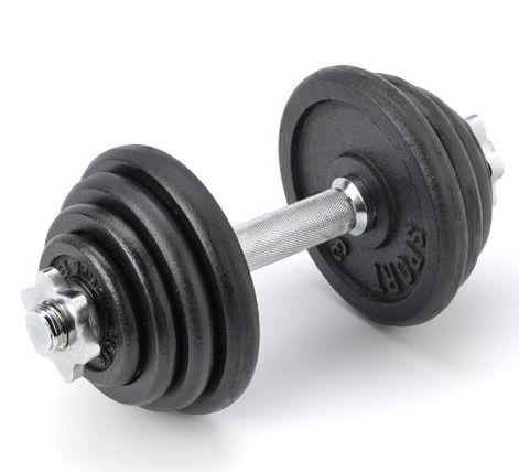 GEWICHTEN- Halterset 15 KG: Stevige professionele dumbell set van 15 kg voor de diverse krachtoefeningen om zowel thuisfitness als voor op de sportschool of fysiotherapeut oefeningen te doen.  Deze halter heeft een totaal gewicht van 15 kg en is als volgt samengesteld: 2 * 0,5 kg 2 * 1 kg 2 * 2 kg 2 * 3 kg 1 * verchroomde halterstang. € 32,95 Prijs per Stuk