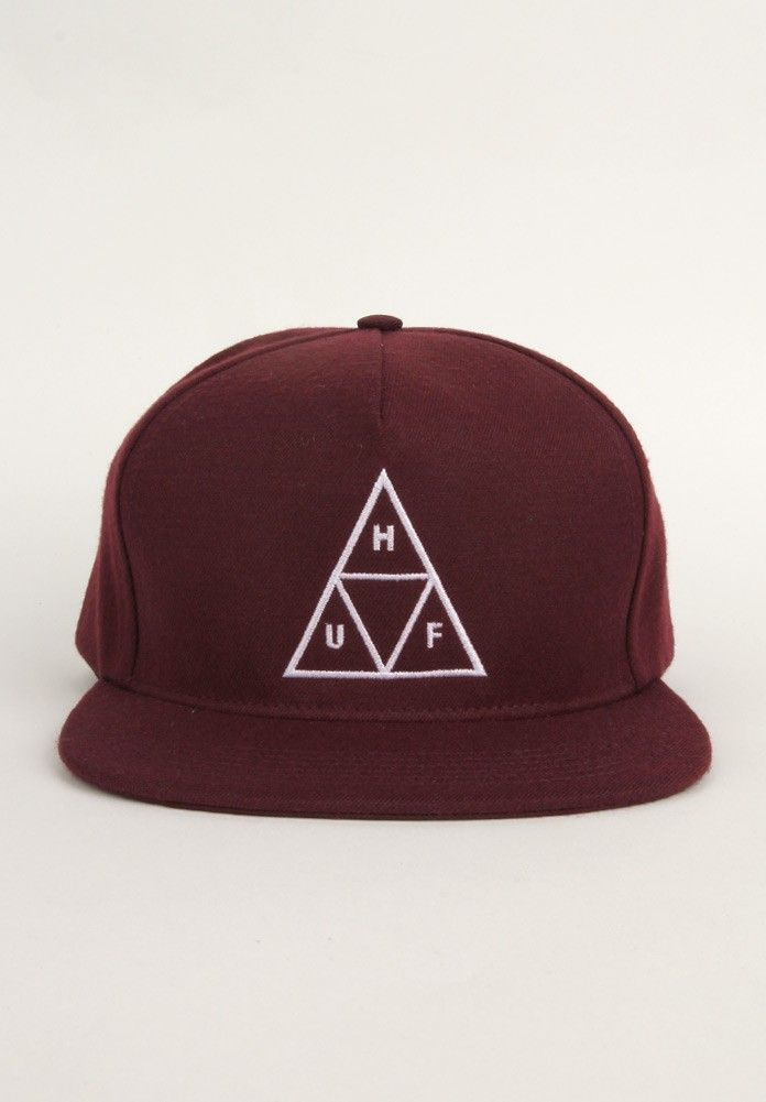 HUF Clothing Triple Triangle Snapback Hat - Maroon $36.00 #huf