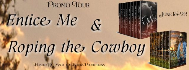 ENTICE ME & ROPING THE COWBOY BOXSETS  Genre: Sweet Through Hot Romance  This sweet through hot collection of love stories includes contemporary period and historical romance otherworldly romance and romance with a touch of magic by eight Award-winning and Bestselling Authors.  Beltane Lion by Cindy Spencer Pape  Rhodri of Llyan has returned from the Crusades a cursed man. On the way home to Wales a friend is injured. Rhodri seeks help from Selene whose gift for healing is uncanny. Selenes…