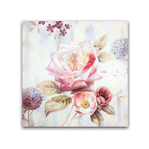 Dipinto di Van Eyck Arte Contemporanea a mano pittura a olio su tela di colore rosa immagini di fiori per la decorazione della parete 20x20 pollici (interno con cornice) fiore2 Van Eyck http://www.amazon.it/dp/B01448U65C/ref=cm_sw_r_pi_dp_OiHWwb147CZG4