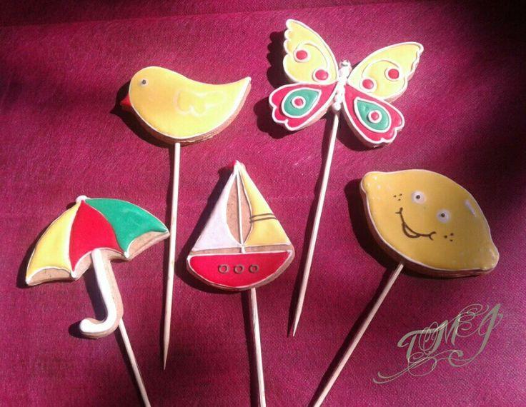 Gingerbread lollipop childrenday present by TMJcreative. Mézeskalács ajándék gyereknapra.