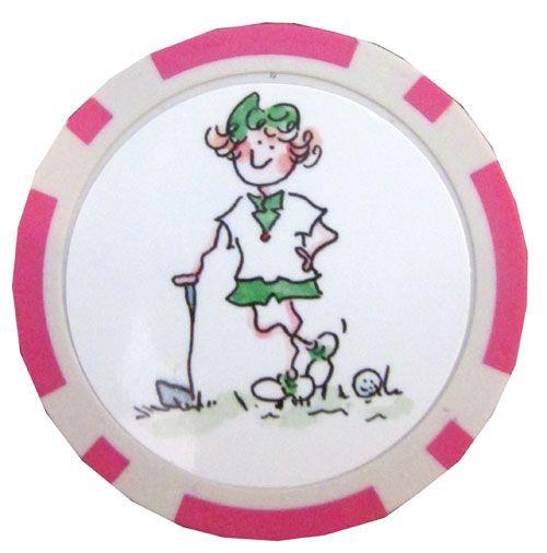 Gal Pals Golf Chip Ball Marker to mark your ball on the green! #golf #ballmarker #lorisgolfshoppe