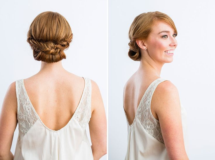 Even though you're the OMG-it's-my-big-day! bride, take it from me — the pro stylist — these trio of curled and pinned strands is totally doable day-of.