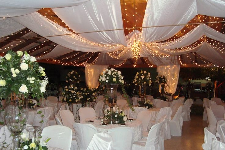 Coral wedding decorations reception hall bing images for Party hall decoration ideas