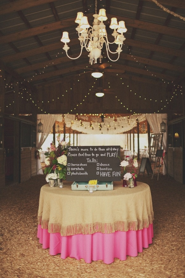 LOVE this! some fun things to do at a wedding reception...