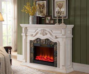 "62"" Grand White Electric Fireplace Biglots $549.00"