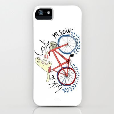 bike,cat, meow iPhone & iPod Case by catherineinsch - $35.00