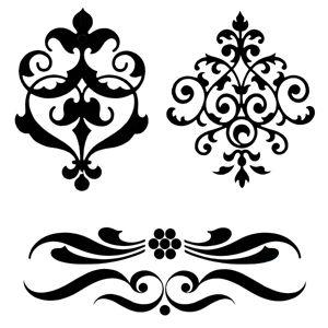 "Journaling stencils | Art Stencil Template - Ornamentation - 6"" x 6"" Stencil"