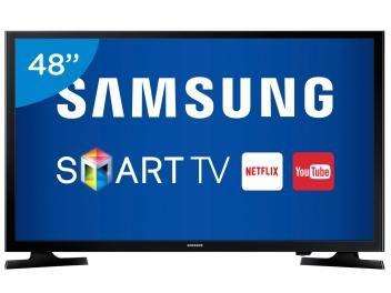 """Smart TV LED 48"""" Samsung Full HD UN48J5200 - Conversor Digital Wi-Fi 2 HDMI 1 USB  Para adquirir basta clicar na figura do produto e seguir as instruções para pagamento e entrega."""